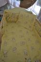Babaágynemű kutyusos sárga 3 részes