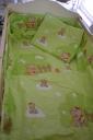 Babaágynemű macis zöld 3 részes
