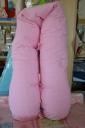 Kismamapárna rózsaszín virágos