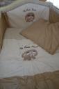 Kutyás bézs-barna ágynemű garnitúra