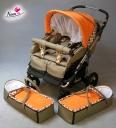 Nana Kinderwagen Twini Ergo Easy ikerbabakocsi
