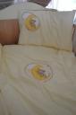 Sárga macis-holdas ágynemű garnitúra