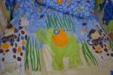 Zsiráf elefánttal ágynemű garnitúra